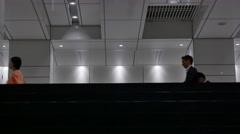 People walking underground in Shinjuku, Tokyo, Japan Stock Footage
