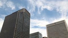Office buildings and sky, Tokyo, Japan - stock footage