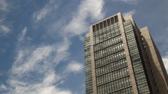 Office buildings and sky, Tokyo, Japan Stock Footage