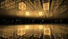 Data Flow, Golden Geometrical Horizon, Communication Concept Stock Footage