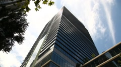 Office building and sky, Tokyo, Japan Stock Footage