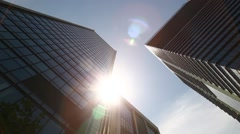 Office buildings and sky, Tokyo, Japan - stock footage