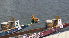 Dragon Boats Stock Footage