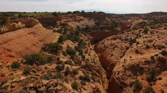 Slot Canyon Utah from above Stock Footage