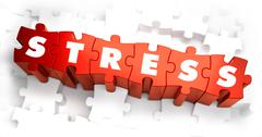 Stress - Text on Red Puzzles Piirros