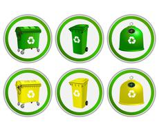 Stock Illustration of Vector set of ecology, environmental stickers