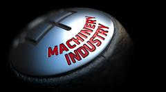 Gear Stick with Red Text Machinery Industry Stock Illustration