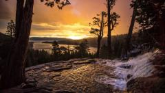 Time lapse at Eagle Falls at Sunrise. Stock Footage