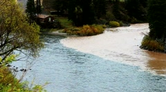 Confluence of the Snake River and Hoback River. Stock Footage