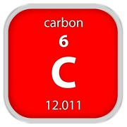 Carbon material sign - stock photo