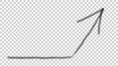 Stock Video Footage of concept drawing explain whimsical cartoon arrow up alpha channel tranparency