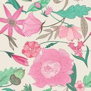 Summer Pattern in Pale Colors Stock Illustration