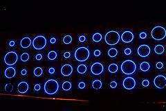 Rings of a lightshow on the Walls of Jerusalem - stock photo