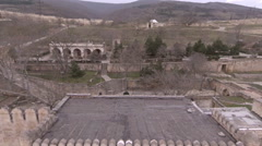 Aerial overview of the ancient fortress Narin-kala in Derbent. Stock Footage