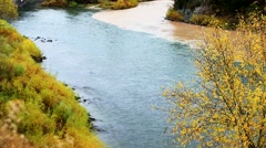 Stock Video Footage of Confluence of the Snake River and Hoback River.