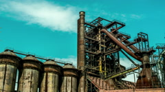 Old blast furnace timelapse Stock Footage