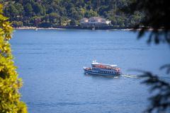 Navigation On Lake Como in Summer Stock Photos