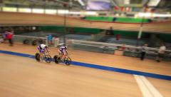 Cycle race Pursuit Stock Footage