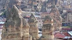 Panorama of Goreme Cappadocia turkey Stock Footage