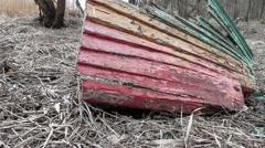 Shipwrecked debris Stock Footage