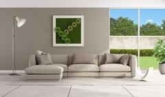 Contemporary lounge - stock illustration
