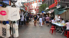 FPV walk through not very crowded chinatown street in Kuala Lumpur Stock Footage