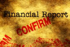 Financial report - confirm Stock Photos