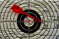 Grunge fraud target Stock Photos