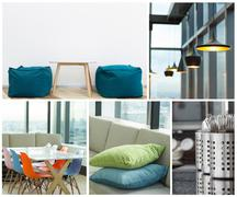 interior decoration modern furniture collection - stock photo