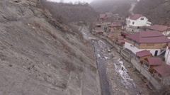 Mountain settlement aerial view/ Stock Footage