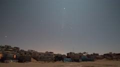 Tifnit stars night village sand old ruins crumbling 4k Stock Footage