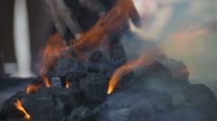 Glowing hot embers Stock Footage