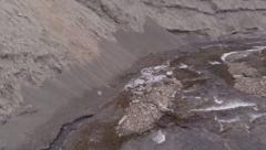 River in mountains. Aerial video Stock Footage