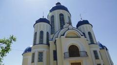 Christian chirch, Ukraine. Outside. Stock Footage