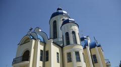 Christian chirch, Ukraine. Exterior. Stock Footage