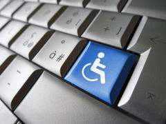Stock Photo of Web Accessibility Computer Key