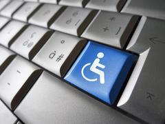Web Accessibility Computer Key - stock photo