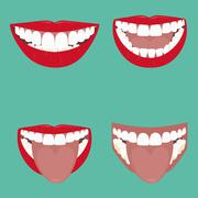 Open Mouth Vector Stock Illustration