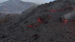 Volcanic eruption Stock Footage