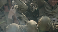 The soldiers in the war Stock Footage