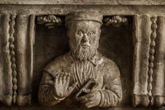 Bracket with Stonemason Bust - stock photo
