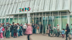 Milano EXPO Gate Stock Footage