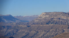 Panorama of the Caucasus Mountains. Stock Footage