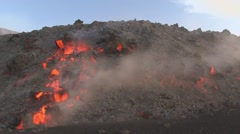 Volcanic lava motion Stock Footage