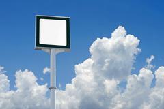 Blank billboard for advertisement Stock Photos