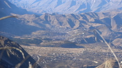 Beautiful view of the village in the mountains. Stock Footage