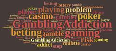 Gambling addiction. Stock Illustration