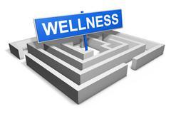 Wellness Healthy Living Concept - stock illustration