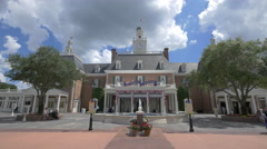 The front side of The American Adventure in Orlando, Florida Stock Footage