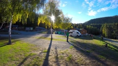 Beautiful Autumn Morning At Lake Tekapo Pan Right Stock Footage